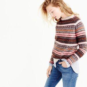 J. Crew collection fair isle sweater